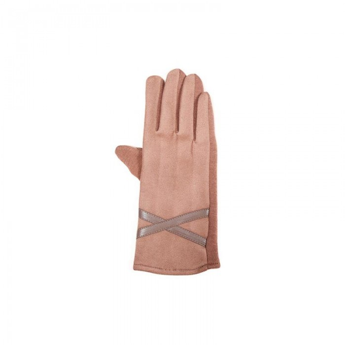 Guantes TANTREND rosa cuarzo con franja gris. Pack guantes 3-3. 04600783