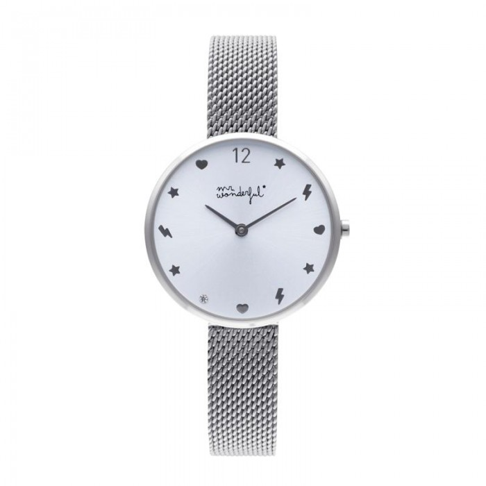 Reloj Happy O´clock Mr Wonderful Mujer Plateado WR80100