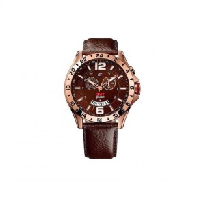 Reloj caballero ICE WATCH Ice BMV. Plateado. Calendario. Índices rojos.